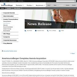 News Release - AmerisourceBergen