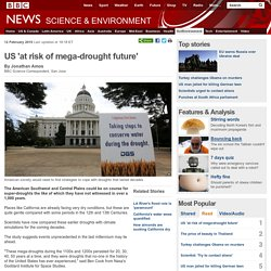 US 'at risk of mega-drought future'