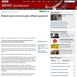 Robot hand and arm gets official approval