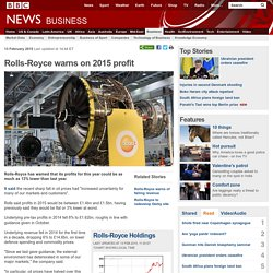 Rolls-Royce warns on 2015 profit