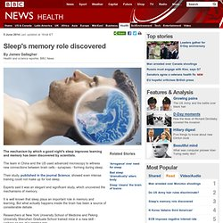 Sleep's memory role discovered
