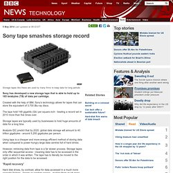 Sony tape smashes storage record