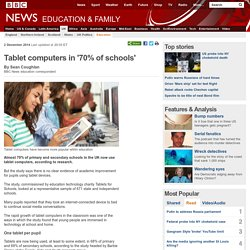 Tablet computers in '70% of schools'