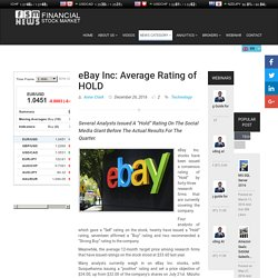eBay Inc: Average Rating of HOLD