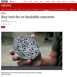 Key test for re-healable concrete