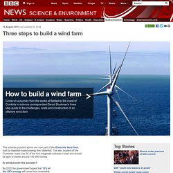 Three steps to build a wind farm