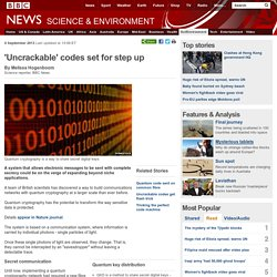 'Uncrackable' codes set for step up