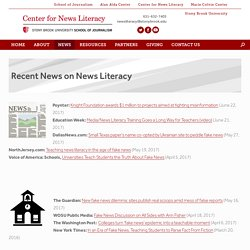 News Feed – Updated 6/22/17 – Center for News Literacy