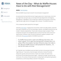 Waffle House Index - What do Waffle Houses Have to Do with Risk Management?