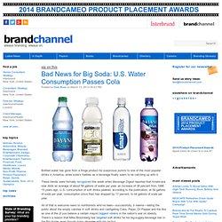 Bad News for Big Soda: U.S. Water Consumption Passes Cola