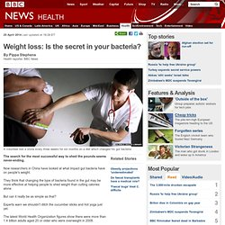 Weight loss: Is the secret in your bacteria?