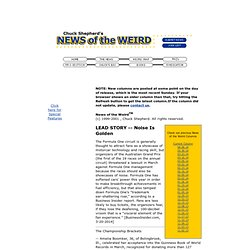 NEWS of the WEIRD - Current News