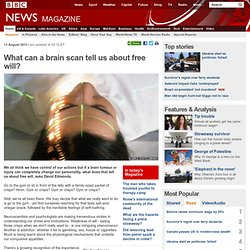 What can a brain scan tell us about free will?