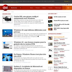 News Windows, top actu Windows