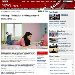 Writing - for health and happiness?
