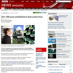 Ten 100-year predictions that came true