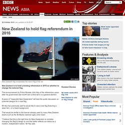 New Zealand to hold flag referendum in 2016