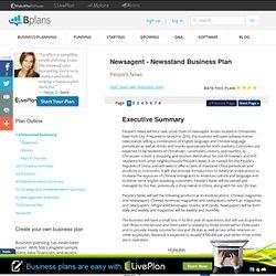 Newsagent - Newsstand Business Plan Sample