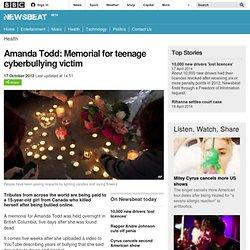 Newsbeat - Amanda Todd: Memorial for teenage cyberbullying victim