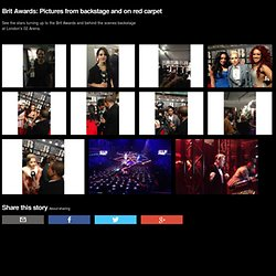 Newsbeat - Brit Awards: Pictures from backstage and on red carpet