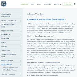 NewsCodes - IPTC