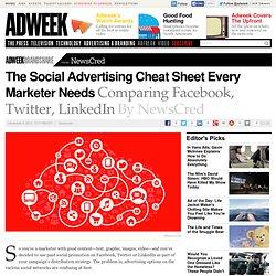 NewsCred's Cheat Sheet for Advertising on Facebook, Twitter, LinkedIn