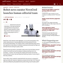 Robot news curator NewsCred launches human editorial team