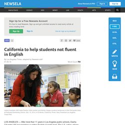 California to help students not fluent in English