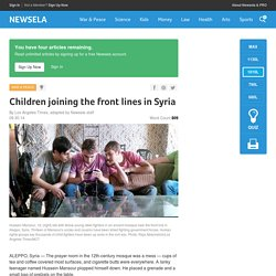 Children joining the front lines in Syria