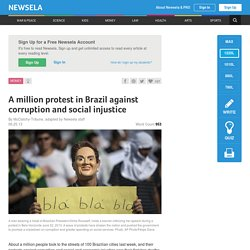A million protest in Brazil against corruption and social injustice