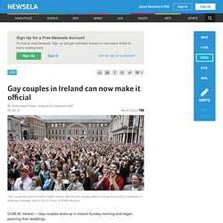 Gay couples in Ireland can now make it official