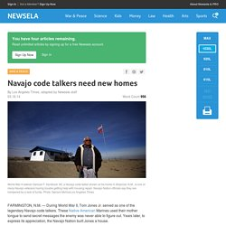 Navajo code talkers need new homes