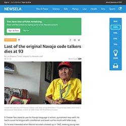 Last of the original Navajo code talkers dies at 93