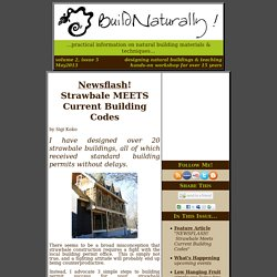 Newsflash! Strawbale MEETS Current U.S. Building Codes