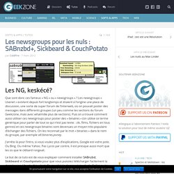 Les newsgroups pour les nuls : SABnzbd+, Sickbeard & CouchPotato