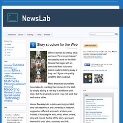 Story structure for the Web | NewsLab