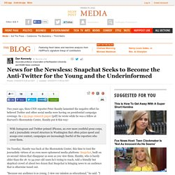 News for the Newsless: Snapchat Seeks to Become the Anti-Twitter for the Young and the Underinformed