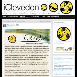Newsletter 001 » iClevedon