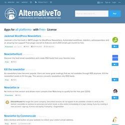 newsletter - Search on AlternativeTo.net