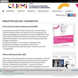 Newsletter CLEMI-INFO - Novembre 2018- CLEMI