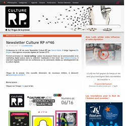 Newsletter Culture RP n°46