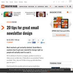 20 tips for great email newsletter design
