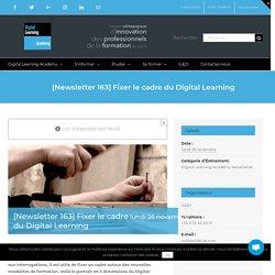 [Newsletter 163] Fixer le cadre du Digital Learning