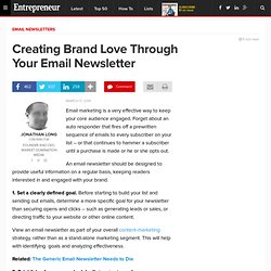 Creating Brand Love Through Your Email Newsletter