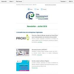 Newsletter du Pôle Environnement Limousin juillet 2016