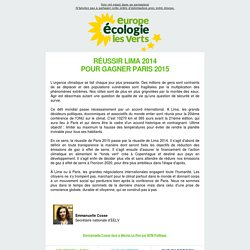 Newsletter Europe Écologie les Verts