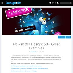 Newsletter Design: 50+ Great Examples