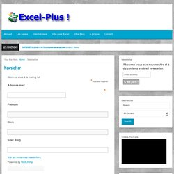Newsletter Excel-Plus