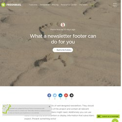 What newsletter footer can do for you