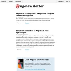 A weekly newsletter highlighting everything AngularJS